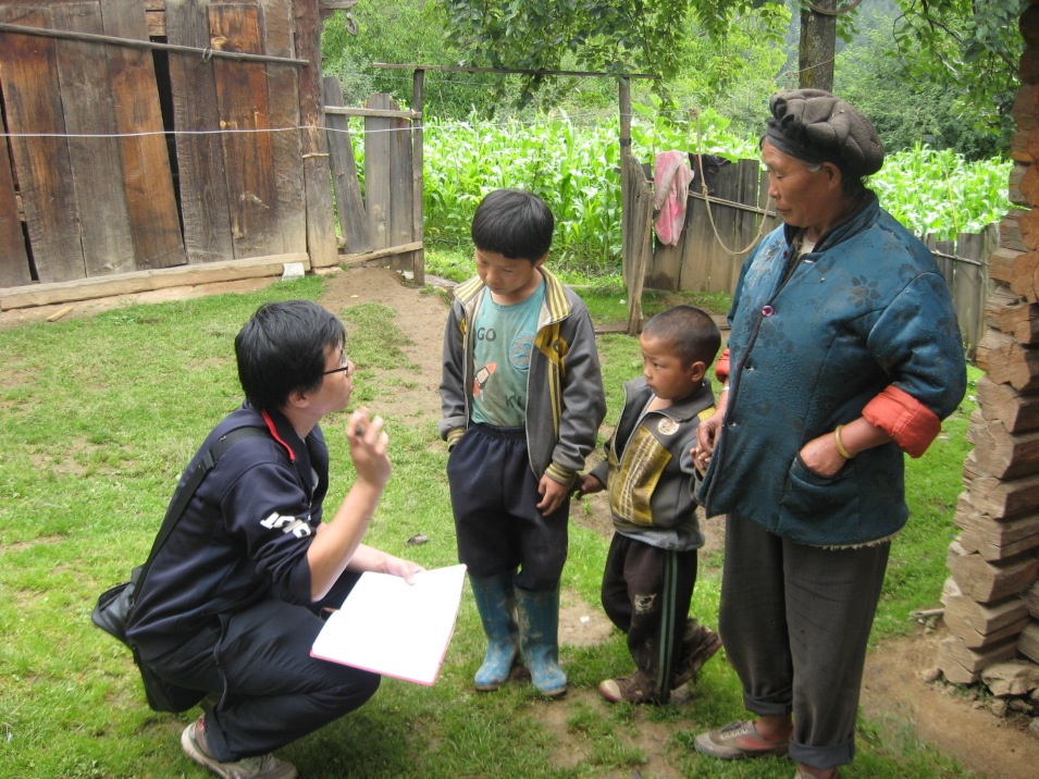 (July 2011) In fieldwork in a Yunnan minority ethnic village, for a summer school in anthropology at Yunnan University