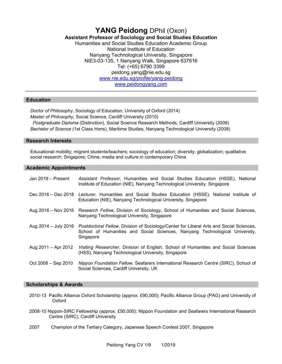 CV YANG Peidong_1.2019-1