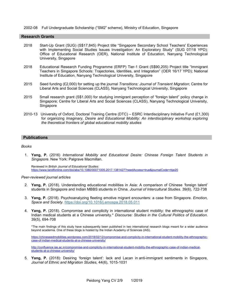CV YANG Peidong_1.2019-2